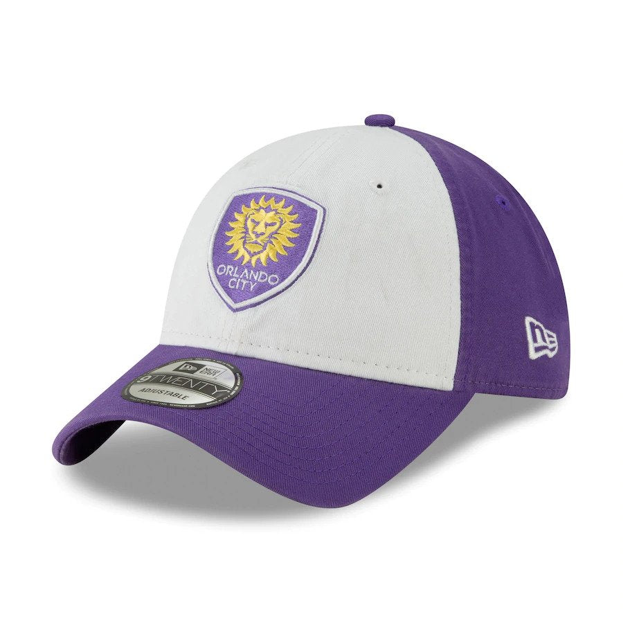 Orlando City Core 9TWENTY Adjustable Hat- White/Purple