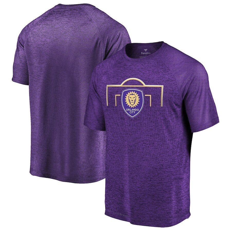 Men's Orlando City SC Fanatics Branded Purple Iconic Just Getting Started Raglan T-Shirt- Purple