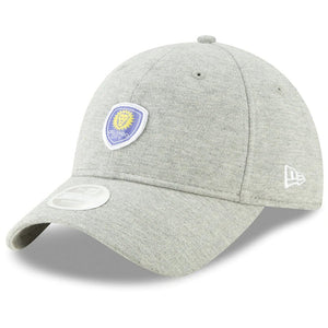 Women's Orlando City SC New Era Gray Preppy Team 9TWENTY Adjustable Hat