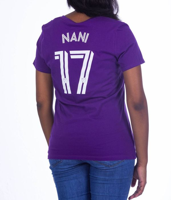 Women's Name & Number Nani T-Shirt- Purple