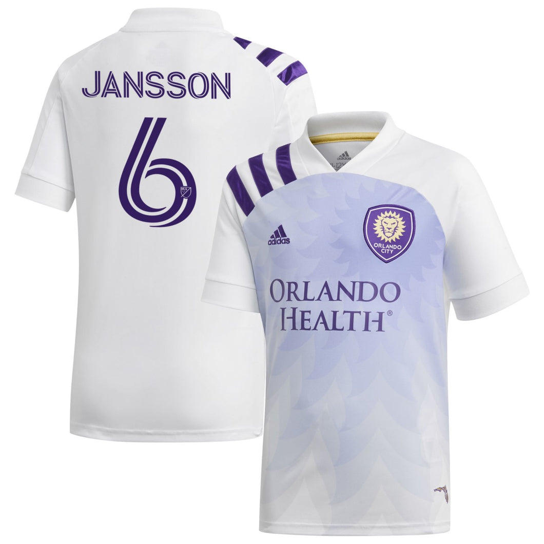 Men's Orlando City SC Adidas White 2020 Heart and Sol Jansson Authentic Jersey
