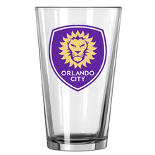 Load image into Gallery viewer, Orlando City SC 16oz. Satin Etch Pint Glass