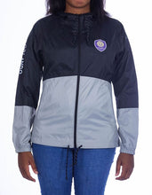 Load image into Gallery viewer, Women's Columbia Rain Jacket- Black/Grey