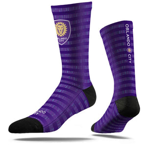 Strideline Comfy Crew Dress Socks - Purple