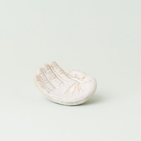 Ceramic Baby Man Hand in White