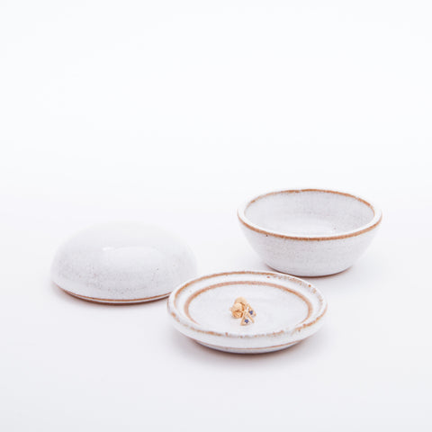 Droplet Jewellery Box - White