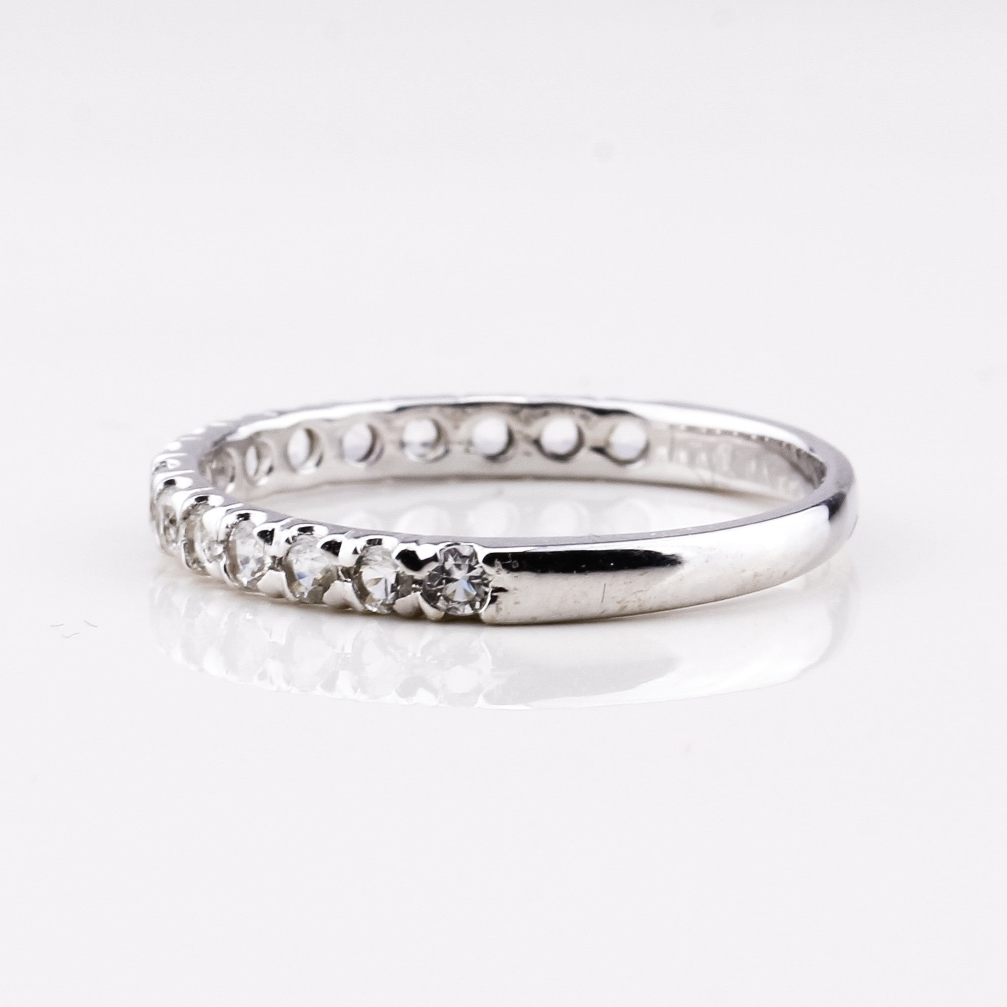 Half Eternity Ring - White Gold & Zircon