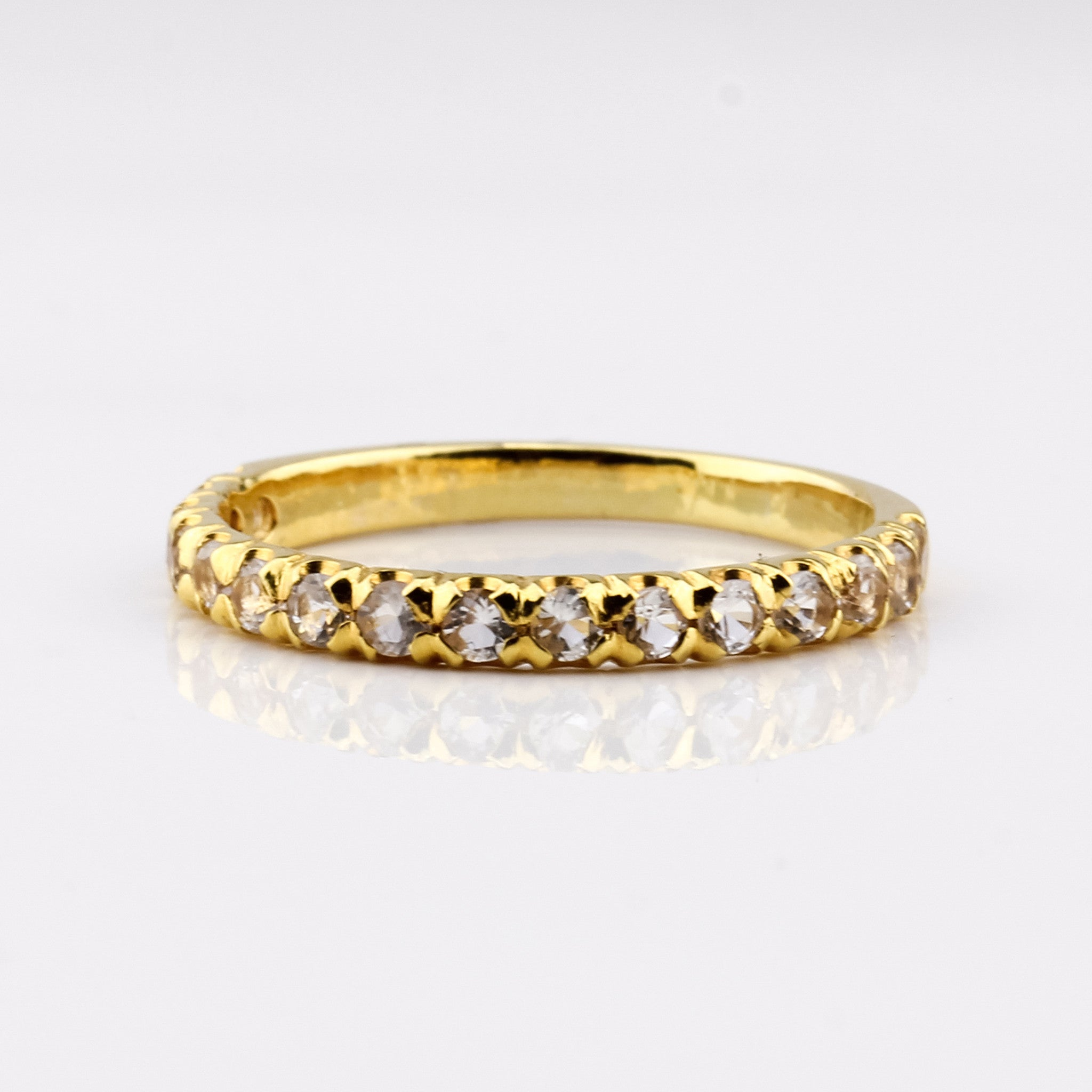 Half Eternity Ring - Yellow Gold & Zircon