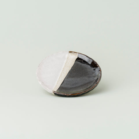 Mini Moon Plate - Black and White