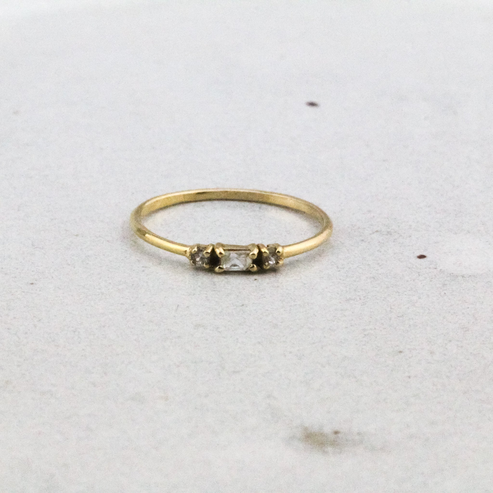 Petite Elevation Ring - Zircon