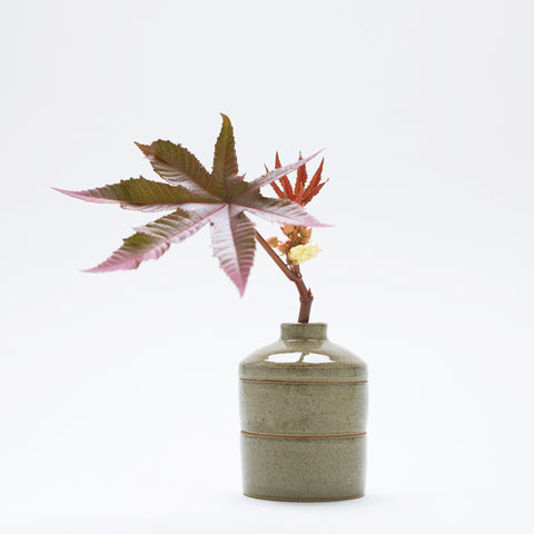 Spout Stack Vase - Moss Green