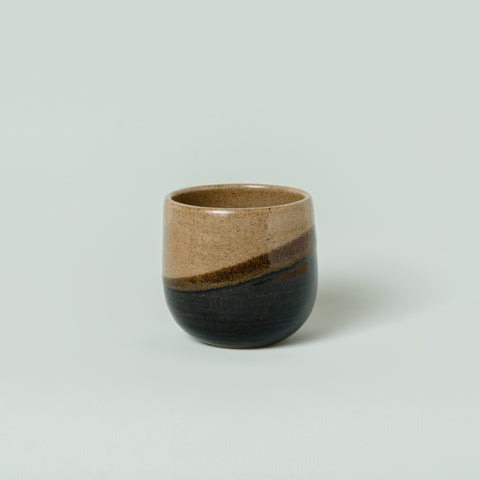 Tea Cup - Green and Black