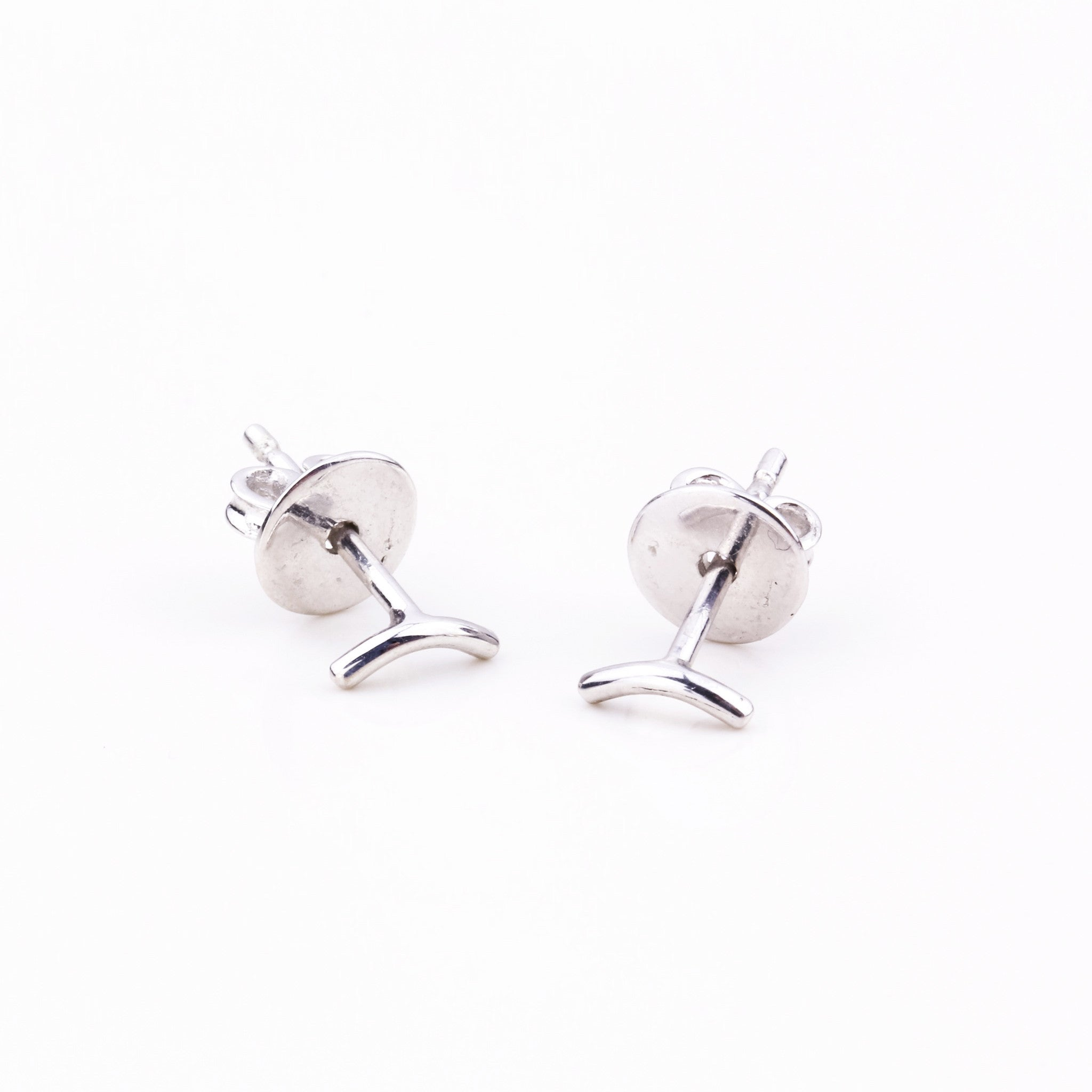 Tiny Arch Stud Earrings - Silver