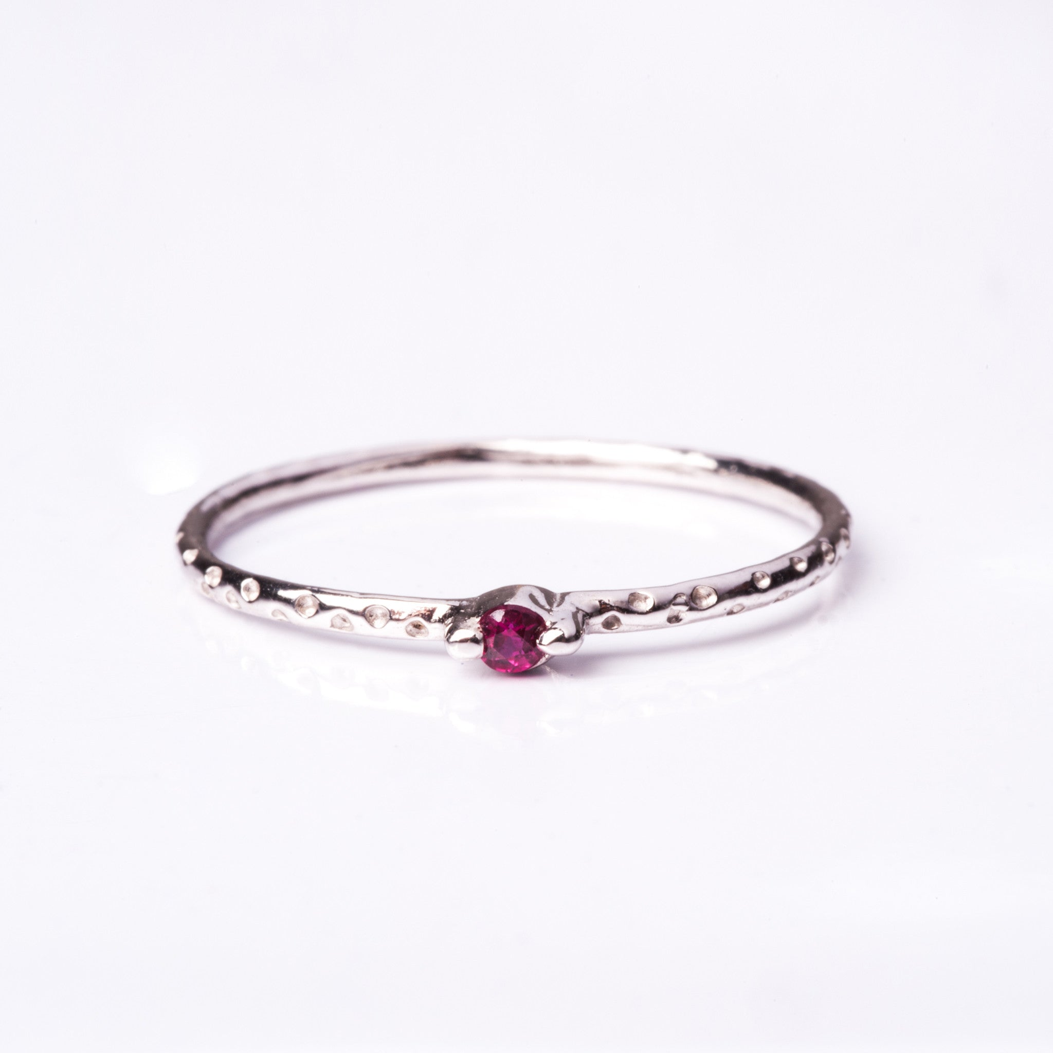 Tiniest Gem Confetti Ring - Ruby