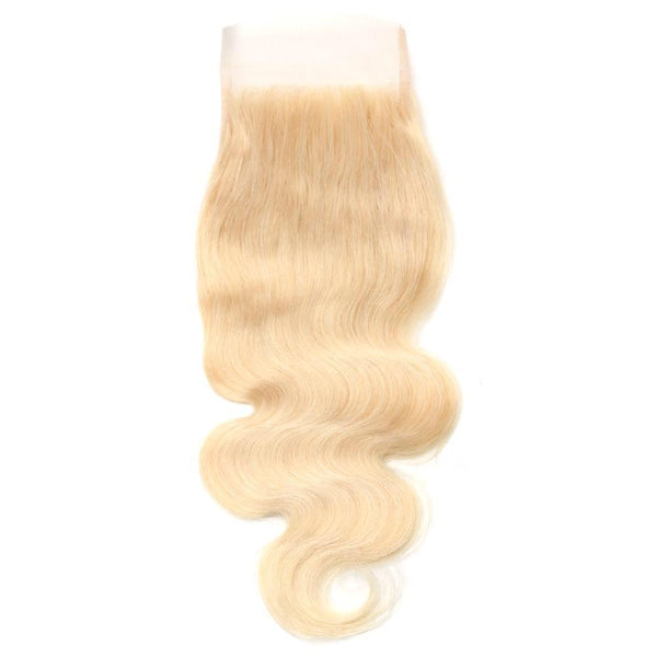 Hey! I'm a Platinum Blonde Loose Wave Closure