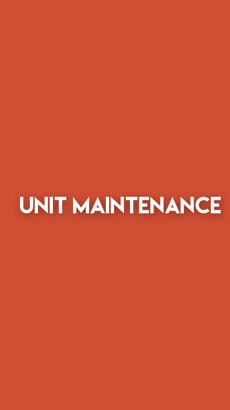 Unit Maintenance | Full Service