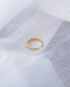 18k gold plated sterling silver asymmetrical edge adjustable ring