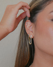 Load image into Gallery viewer, ESMERALDA CZ CHAIN EARRING