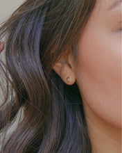 Load image into Gallery viewer, MINI CRESCENT MOON STUD EARRINGS