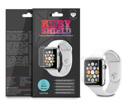 Ruby.Shield Edge to Edge Military Grade Screen Protector for Apple Watch 38mm