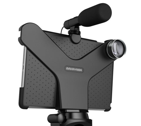 Makayama Movie Mount for all iPads with lens options (Wide/Macro/Fisheye/Tele)