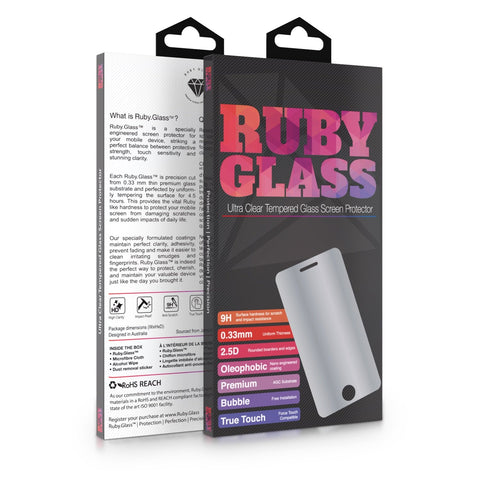Ruby.Glass Ultra Clear True Touch Premium Tempered Glass Screenprotector for HTC