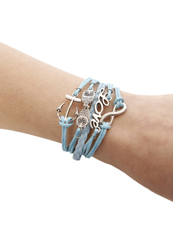 Anchor Your Love with Owl Infinity Bracelet