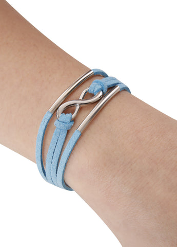 Turquoise Suede Infinity Bracelet