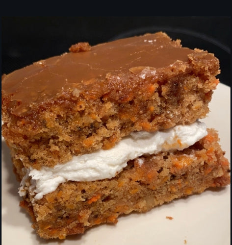 Caramel Soaked Carrot Cake - PetroPowered Pastries