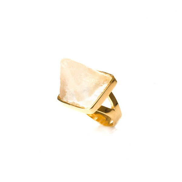 Transparent pyramid ring