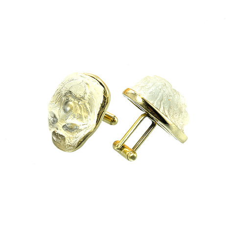 Transparent skull cufflinks