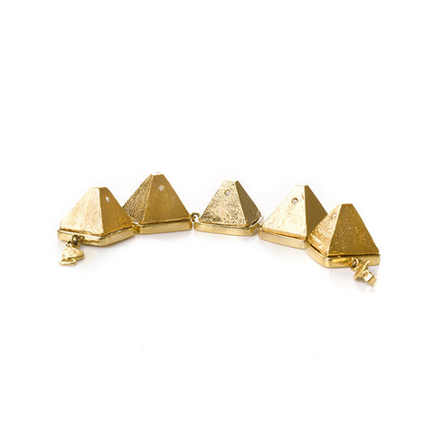 Five golden pyramids bracelet