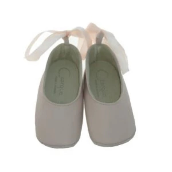 Czarque Baby Shoes - Baby Girl Pale Pink Ballet Shoes - Bon Bon Tresor