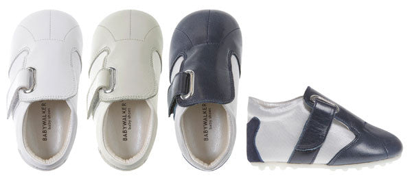 BabyWalker - White Leather Tapas Sole Baby Shoes - Bon Bon Tresor
