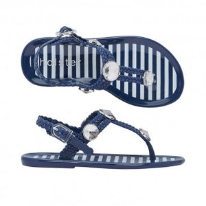 Holster Kids - Girls St Tropez Navy Sandal | Sandals | Bon Bon Tresor
