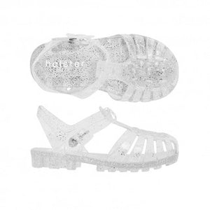 Holster Kids - Glitter Girl Clear Jellie Shoe | Sandals | Bon Bon Tresor