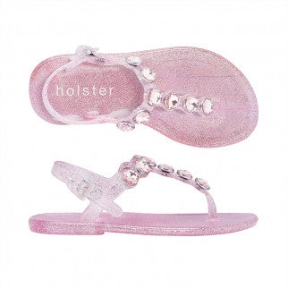 Holster Shoes - Kids Glitter Glamour Rose Pink Sandals | Sandals | Bon Bon Tresor