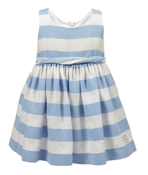Balloon Chic - Blue Stripe Party Dress | Party Dresses | Bon Bon Tresor