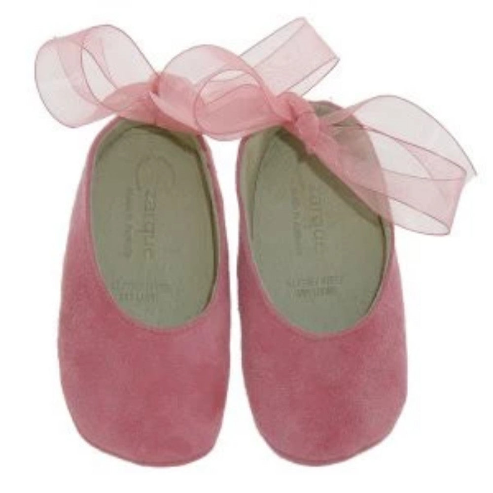 Czarque Baby Shoes - Baby Girl Pink Suede Ballet Shoes | Dress Shoes | Bon Bon Tresor