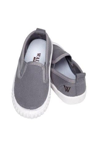 Walnut Shoes - Boys Slate Cruise Shoes | Canvas | Bon Bon Tresor