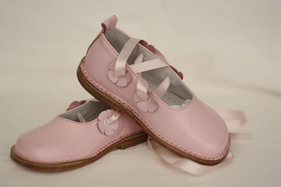 Morello Shoes - Toddler Pink Leather Ballet Shoes - Bon Bon Tresor