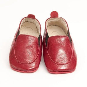 Czarque Baby Shoes - Baby Boy Red Milled Urbane Loafers | Moccasins & Loafers | Bon Bon Tresor