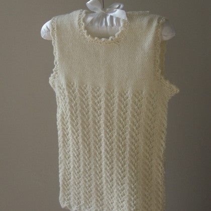 Monsters In Mittens - Organic Merino Wool Hand Knit Baby Vest Lace | Tops & T-Shirts | Bon Bon Tresor