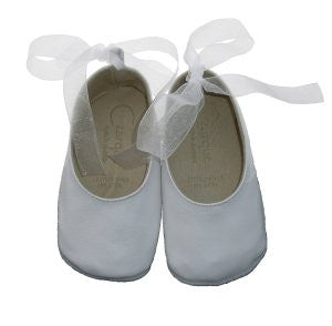 Czarque Baby Shoes - Baby Girl White Ballet Shoes | Dress Shoes | Bon Bon Tresor
