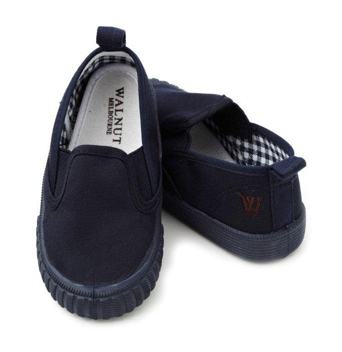 Walnut Shoes - Boys Navy Charlie Cruise Shoes | Canvas | Bon Bon Tresor