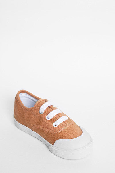 Jonah and the Girl - Bertie Burnt Orange Canvas Shoes | Canvas | Bon Bon Tresor
