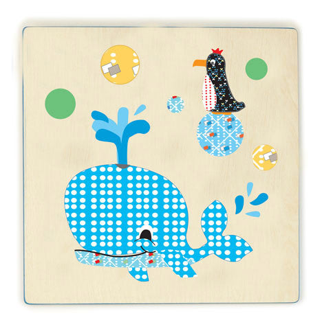 Cocoon Couture - Mr Whale Kids Wall Art - Bon Bon Tresor