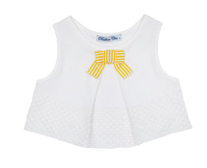 Balloon Chic - White Sleeveless Top | Tops & T-Shirts | Bon Bon Tresor