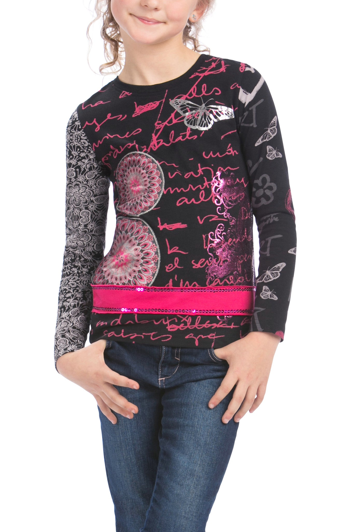 fc9917042ab Desigual Kidswear - Girls Cairo Long Sleeve T-Shirt
