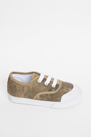 Jonah and the Girl - Bertie Khaki Canvas Shoes | Canvas | Bon Bon Tresor